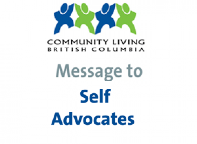 CLBC Message to Self Advocates March 5th,2020