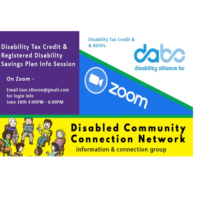 Registered Disability Savings Plans (RDSP) and the disability tax credit Zoom Session