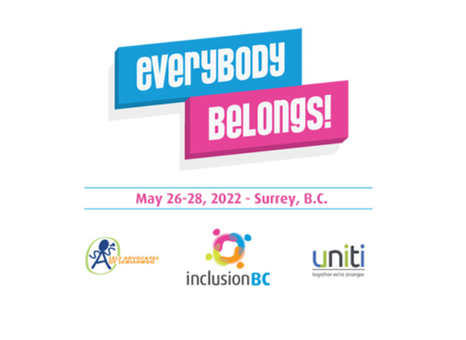Everybody Belongs! Inclusion BC Conference rescheduled to May 26-28, 2022