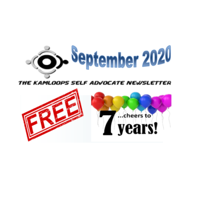 The Kamloops Self Advocates Newsletter September ,2020 Edition