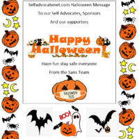 Selfadvocatenet.com Halloween Message 2020