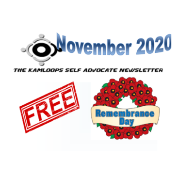 The Kamloops Self Advocates Newsletter November 2020 Edition