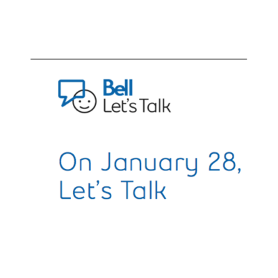 Bell Lets Talk Day January 28th,2021