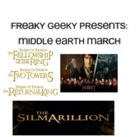 Freaky geeky presents: Middle Earth March