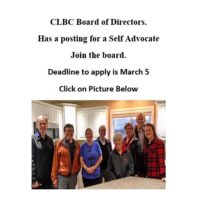 CLBC Board Director Opening for a Self Advocate