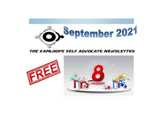 The Kamloops Self Advocates Newsletter September,2021 Edition